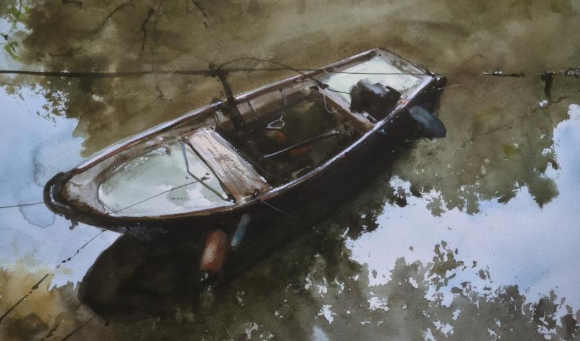 Bootje in het water