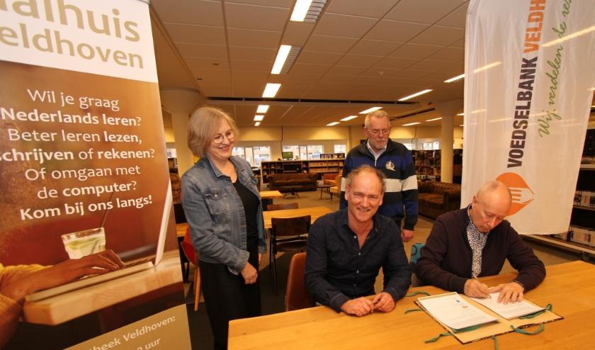 V.l.n.r.: Marjon Middel, Rob Smetsers, Wil Goudsmit en Peer Willemse.