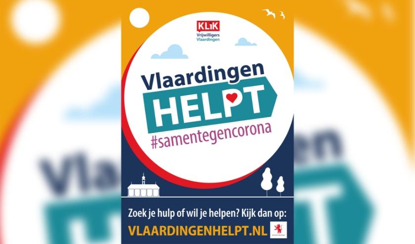 Inwoners die hulp of ondersteuning nodig hebben of die iets willen betekenen kunnen terecht op de website www.vlaardingenhelpt.nl.
