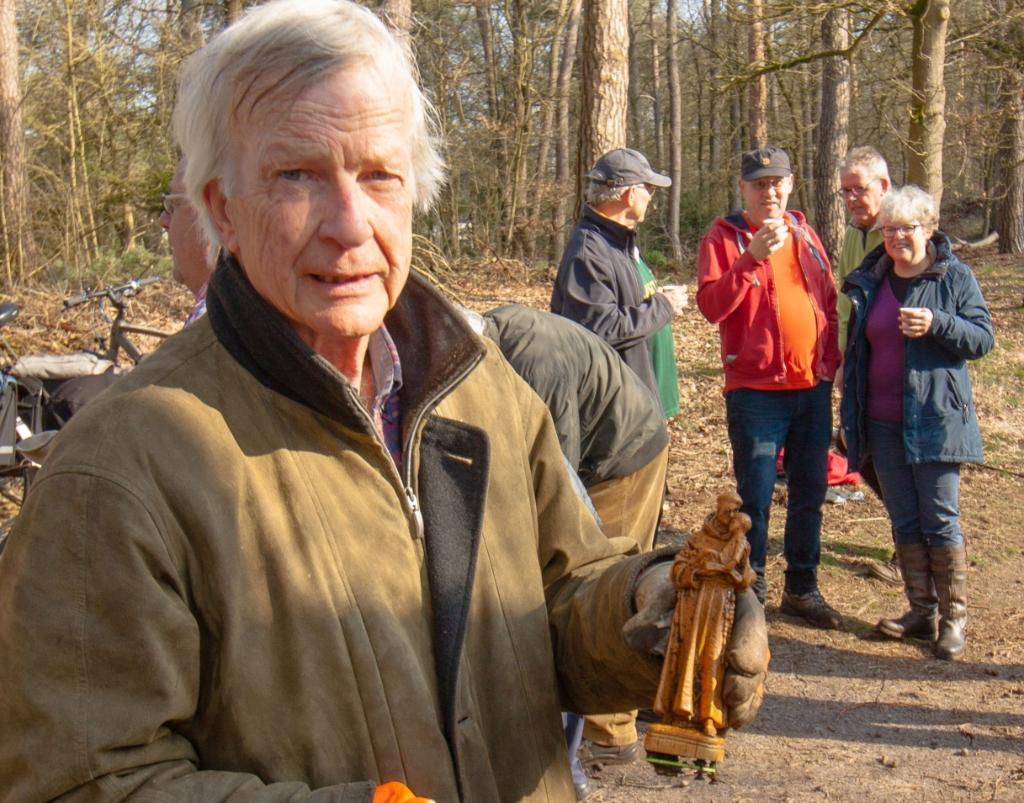 Het teruggevonden Antoniusbeeldje.  Foto: Wim Kremers © DPG Media