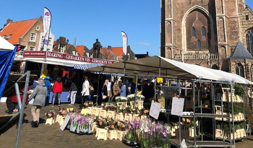 De markt op zaterdag 21 maart.