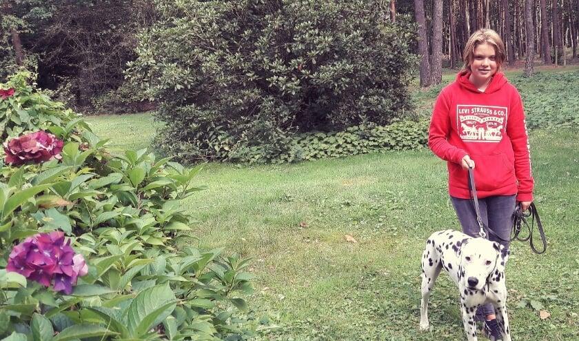 Na een wandeling van een uur brengt Merel Dalmatiër Diego weer terug naar zijn eigen huis