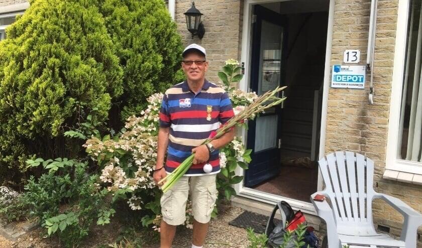 <p>Wim van Dorp vorig jaar tijdens de alternatieve vierdaagse</p>