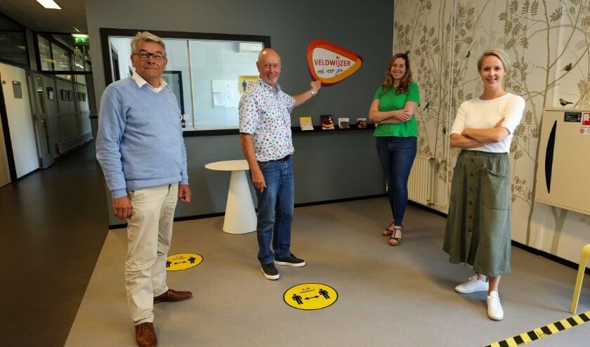 <p>Veldwijzer Veldhoven met vlnr Frans Heutinck, Peer Willemse, Lisette Gallagher-Jonkers, Simone Joosten. FOTO: Bert Jansen.</p>