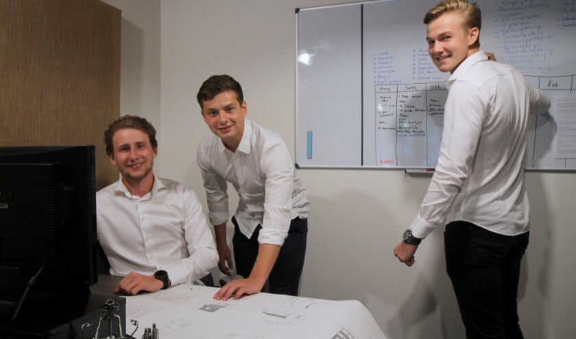 <p>De mannen achter Visional Design. V.l.n.r. Rick van de Steeg, Jesper van Laar en Peter van den Berg.</p>