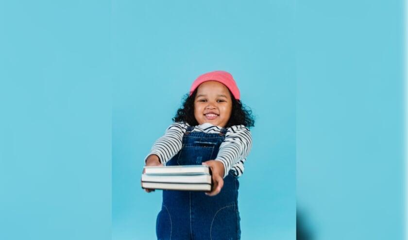 Boeken uit kinderboekenseries worden veel uitgeleend. (Eigen foto)