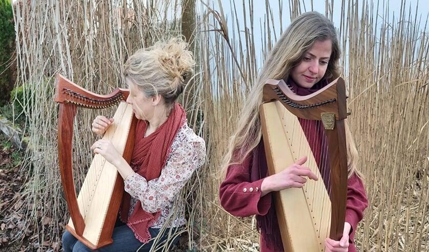 <p>Eva (links) en Lidewei (rechts) laten je graag kennismaken met hun favoriete instrument.&nbsp;</p>