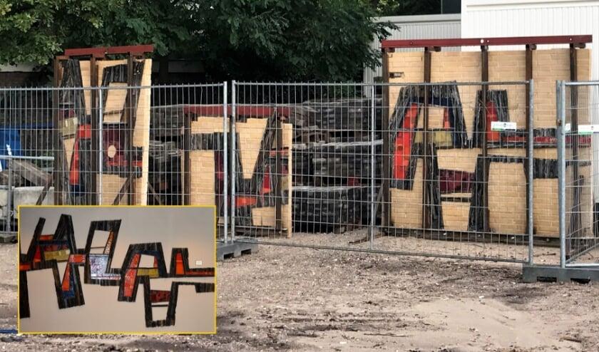 <p>Het kunstwerk van Hedda Willem Buijs in gebouw A van het CLV werd in 1968 vervaardigd. In 2020 werd het zorgvuldig weggehaald en opgeslagen. Inzet: ingepast in de nieuwbouw. (Foto&#39;s CLV)</p>