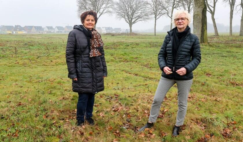 <p>Anita Markovic (links) en Hanneke Overmars nemen deel aan het bijzondere project van levensloopbestendige woningen Boserf in Veldhoven. FOTO: Bert Jansen.&nbsp;</p>