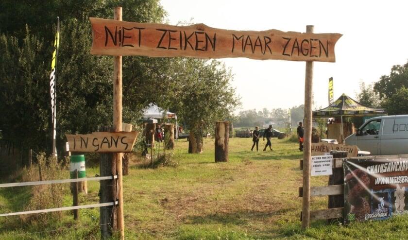 <p>Het houtcarving-evenement Niet zeiken, maar zagen vorig jaar in Loerbeek.</p>