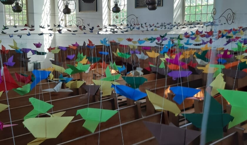 Duizend duifjes in de Pieterskerk