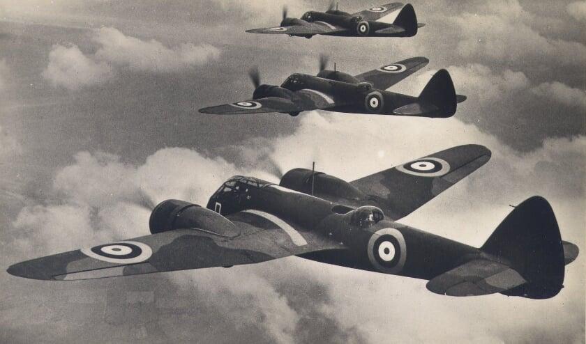 <p>Formatie van de betreffende vliegtuigen.</p>