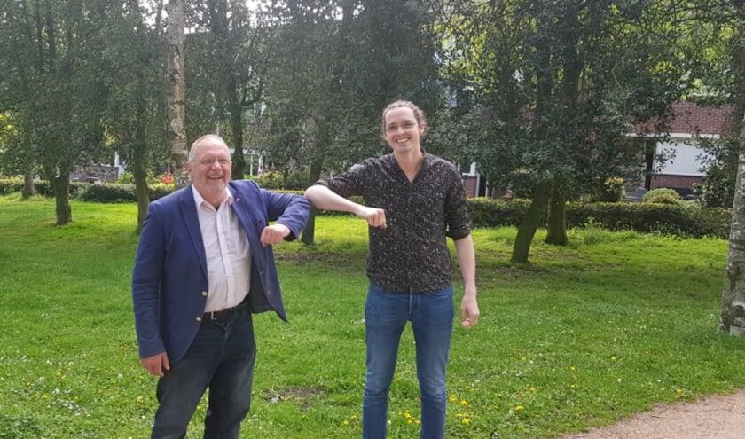 fractievoorzitters Vd Braak (li) en Vd Weele.