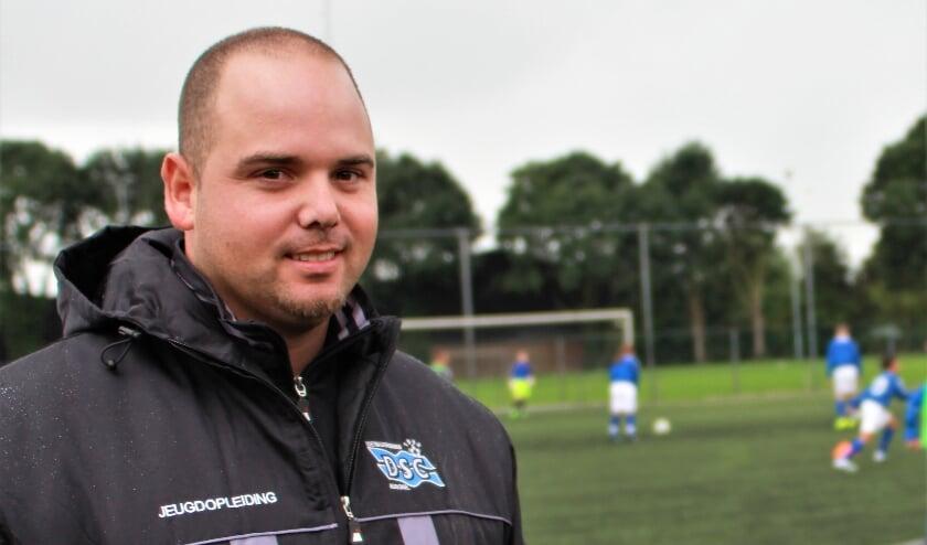 <p>Lenard Weber, op de foto nog actief bij DSC Kerkdriel, wordt de nieuwe trainer van fusieclub BZC'14.&nbsp;</p>