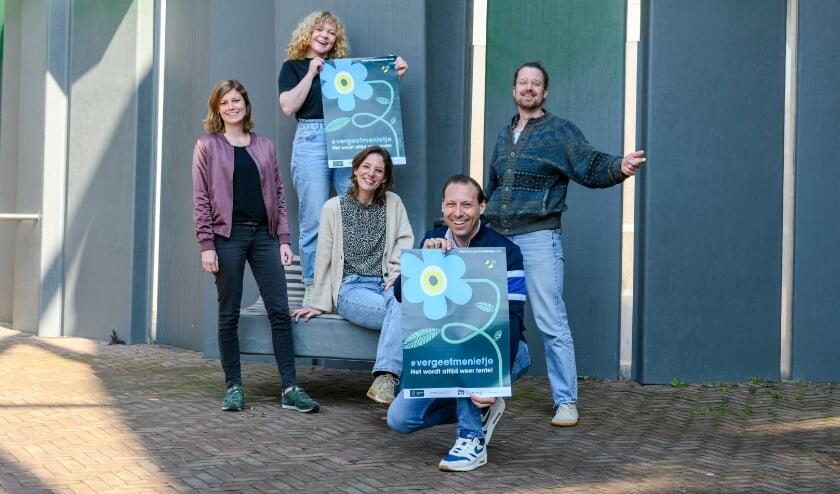<p>Team Stadslab met v.l.n.r.: Femke van Veelen, Emma Fijma, Merel de Jong, Casper Broekaart en Harmen Kohler.</p>