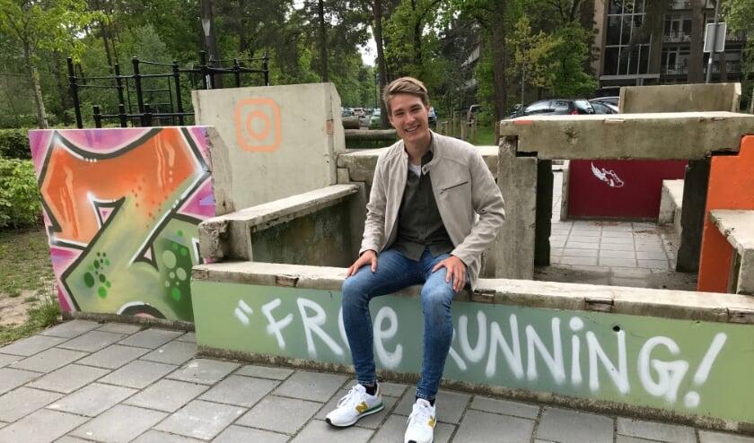 <p>Rutger Schipper is regelmatig te vinden in het free-runpark achter het Binnenbos.</p>