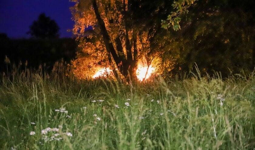 Buitenbrand aan de Westroijensestraat