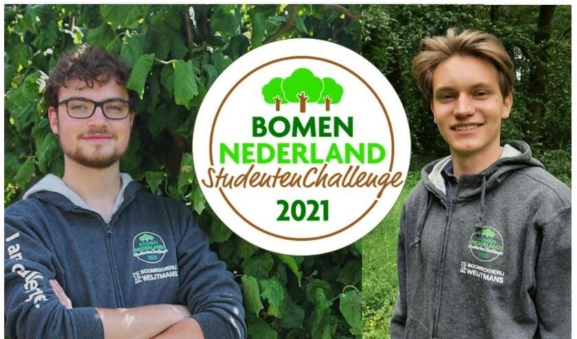 <p>Studenten Bos- en Natuurbeheer Ard Overkempe en Paul Geerdink<br><br></p>