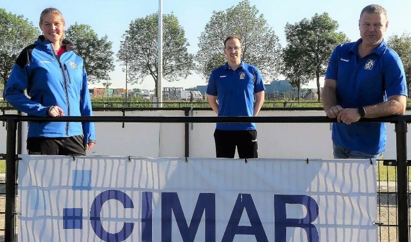 <p>De nieuwe technische staf van korfbalvereniging SKF in Veenendaal.</p>