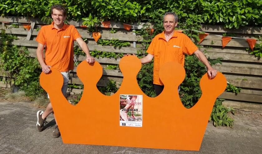 <p>Maikel en Tommie van Hooft organiseren namens Oranjecomité Kerkdriel voor de tweede keer De 4 van Driel.</p>
