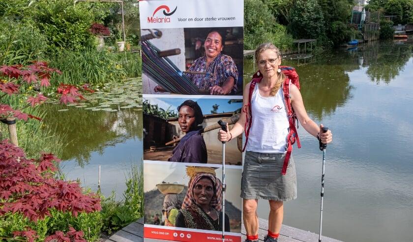 <p>Marleen Cremers is volop in voorbereiding op de sponsor-bergwandeltocht voor stichting Melania</p>