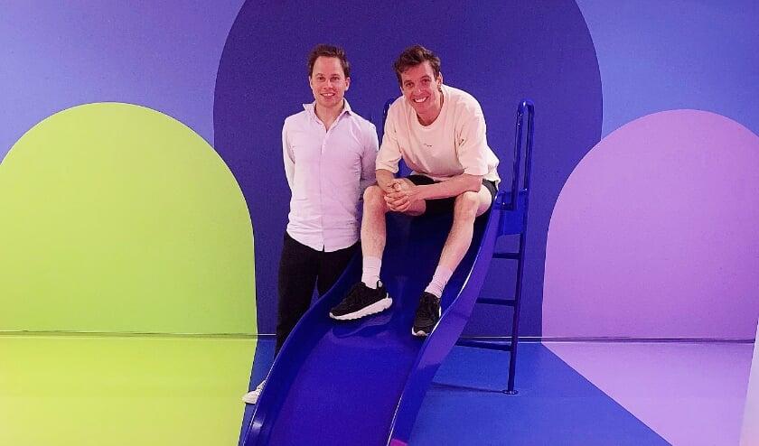 <p>De initiatiefnemers Koen Derks (links) en Joep Heusschen. Jetse Derks ontbreekt op deze foto.</p>