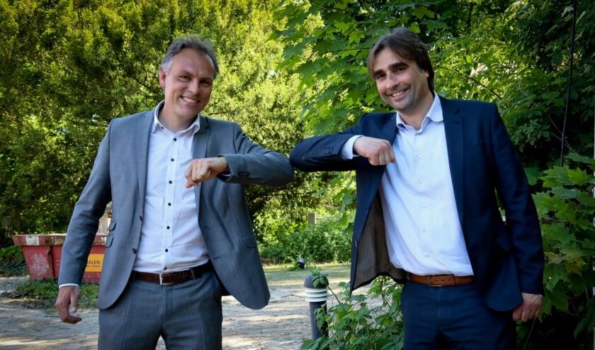<p>Geert Gerrits, wethouder wonen en ruimtelijke ordening (links) en Ronald Leushuis, bestuurder Talis</p>