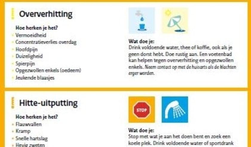 <p>Neem maatregelen bij warm weer en let extra op kwetsbare mensen bij aanhoudende warmte</p>