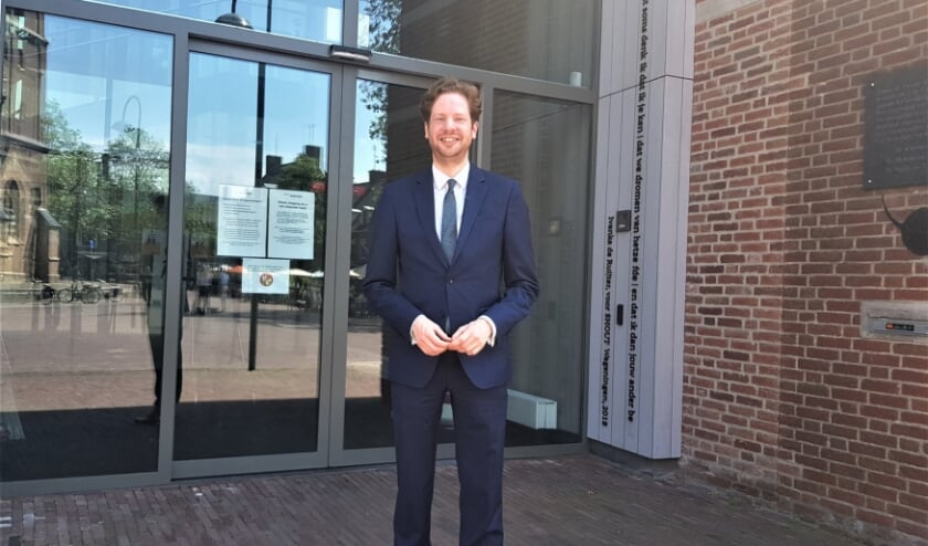 Floor Vermeulen is blij en vereerd met zijn nieuwe functie als burgemeester van Wageningen. (foto: Kees Stap)