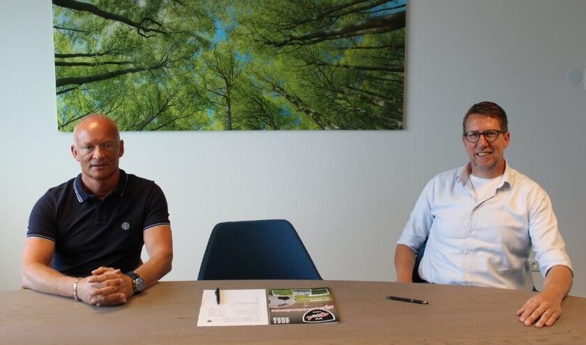 <p>Andr&eacute; Hermsen (voorzitter v.v. VIOD) en Patrick L&ouml;wenthal (CEO Night Star Express Hellman) hebben de sponsorovereenkomst getekend.</p>