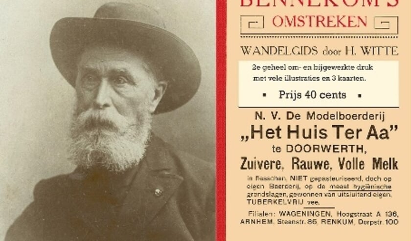 <p>Heinrich Witte en zijn wandelgids uit 1907.</p>