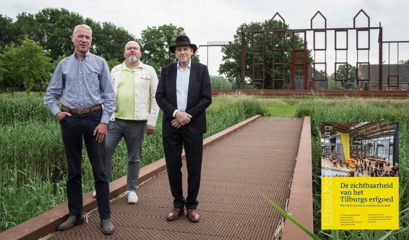<p>Ronald Peeters, Sander van Bladel, Rob van Putten en Astrid de Beer (niet op de foto) vormen de redactie van Erfgoed Magazine Tilburg. (TvE)</p>