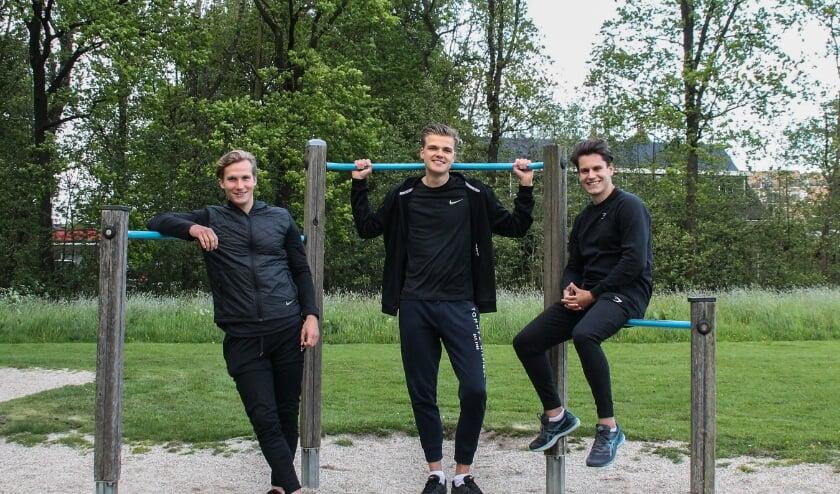 Van links naar rechts: Stan van Scheppingen, Bas Overboom en Robin van den Wijngaard