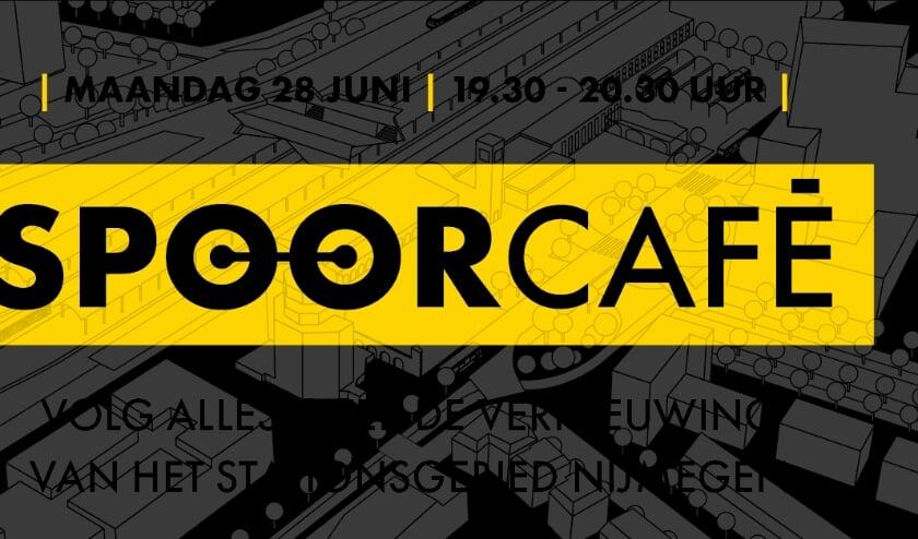 afbeelding over het online Spoorcafé op 28 juni