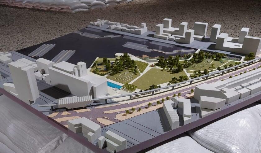 <p>Maquette van &eacute;&eacute;n van de zeven stadsprojecten.</p>