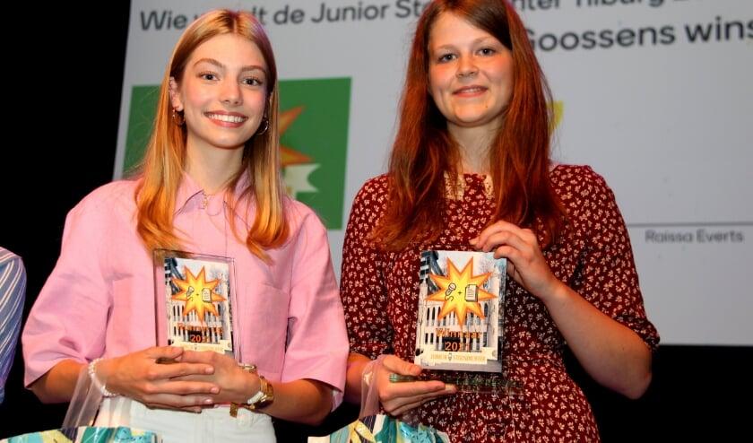<p>Links Raissa Everts, rechts winnares Gina Goossens.</p>