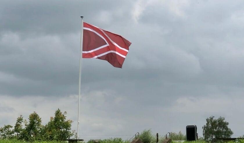 <p>De Liemerse vlag wapperend in de wind&nbsp;</p>