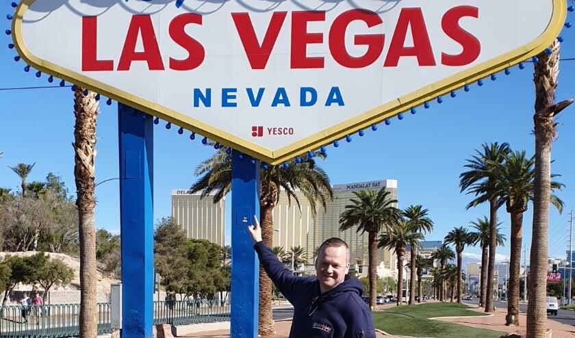 <p>Las Vegas, Maicel Peters was er al eens in 2018. &quot;Een fantastische stad, overweldigend.&quot;</p>