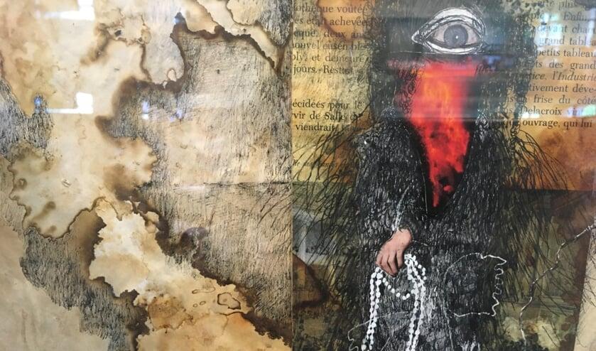 <p>Janna Weijland presenteert &lsquo;Art is freedom&rsquo; in de vitrines van bibliotheek Terneuzen.</p>
