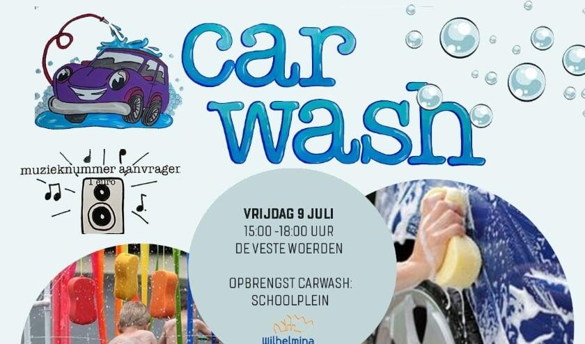 <p>Leerlingen wassen zoveel mogelijk auto's en fietsen en halen hiermee geld op dat wordt besteed aan speelattributen.</p>