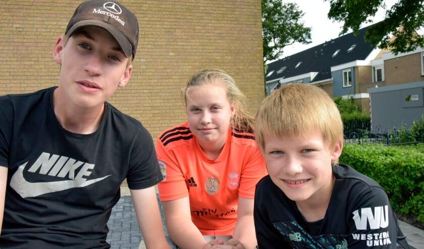 <p>Milan, Anna en Nathan van Vliet kijken aan begin van de zomervakantie terug op hun coronaschooljaar.</p>