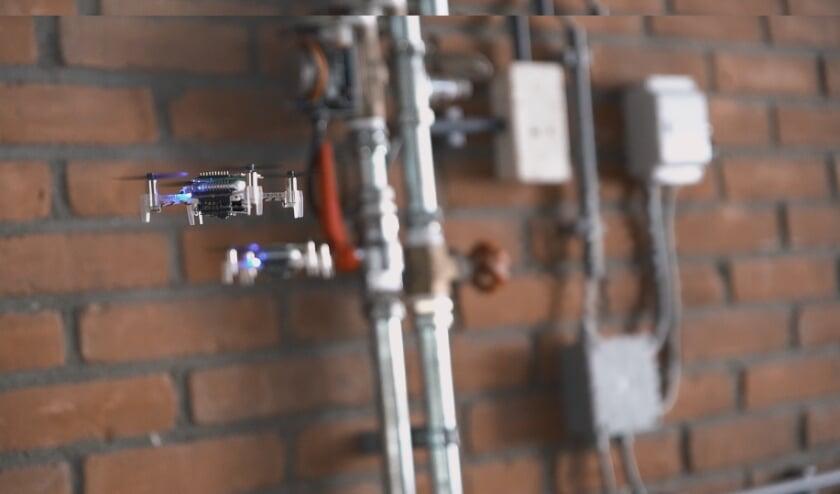 Mini-drones op zoek naar een gaslek.