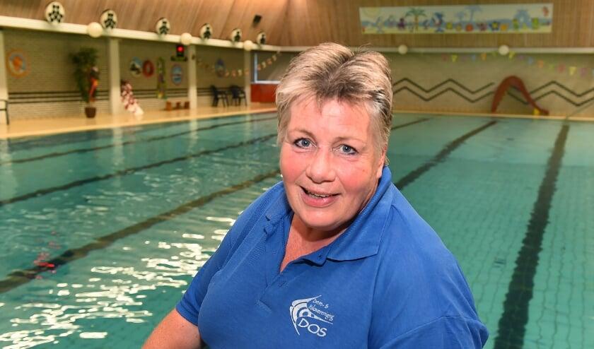 <p>Sonja van Zutphen in het Van Pallandtbad.</p>