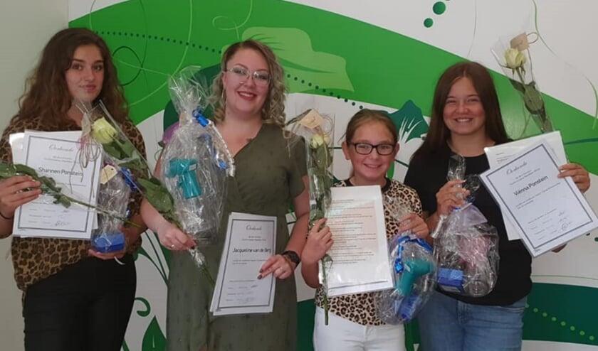 <p>Shannen 5 jaar, Jacqueline 15 jaar, Nicole en Vienna 5 jaar.</p>