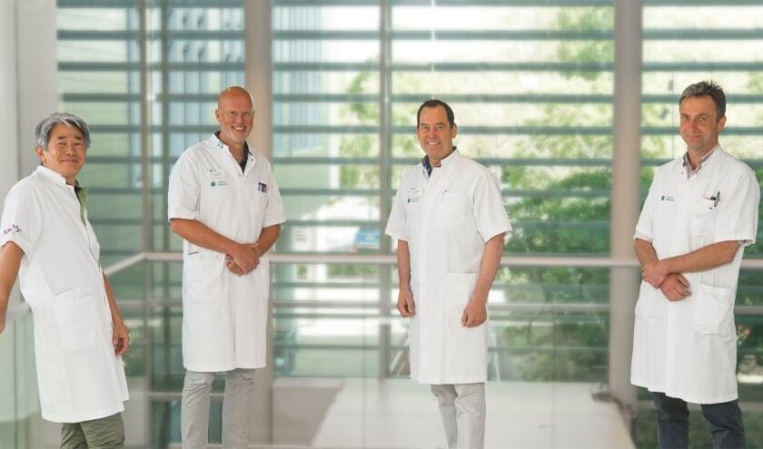 <p>Vaatchirurgen van het Catharina en SJG Weert. V.l.n.r.: Arthur Sondakh, Joep Teijink, Marc van Sambeek en Philippe Cuypers. (Foto: SJG Weert).</p>