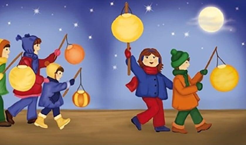 kinderen in een feestelijke lampiontocht