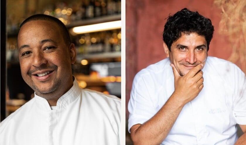 <p>Geurds en Colagreco koken deze week samen onder de Hofbogen.</p>