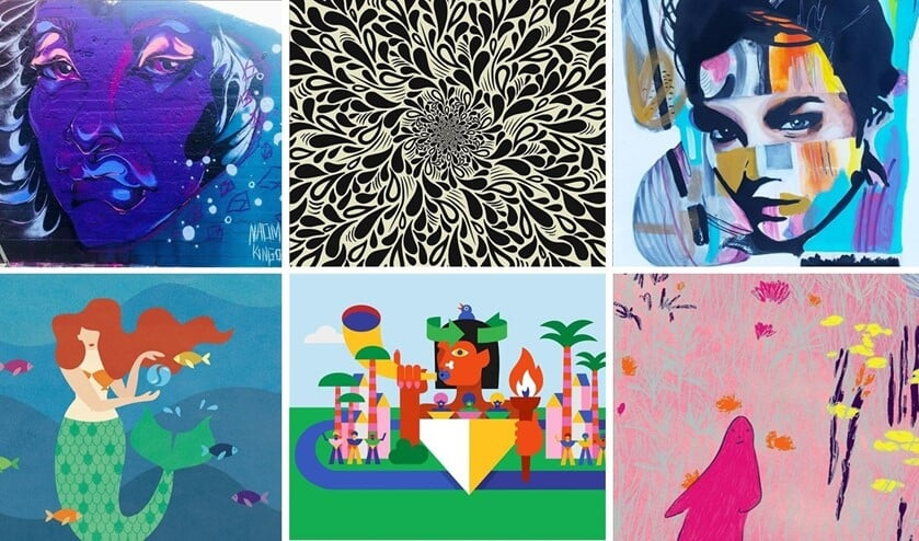 <p>De kunstenaars staan voor een diversiteit aan stijlen en achtergronden, en komen zowel uit Rotterdam als daarbuiten. Foto: pr</p>