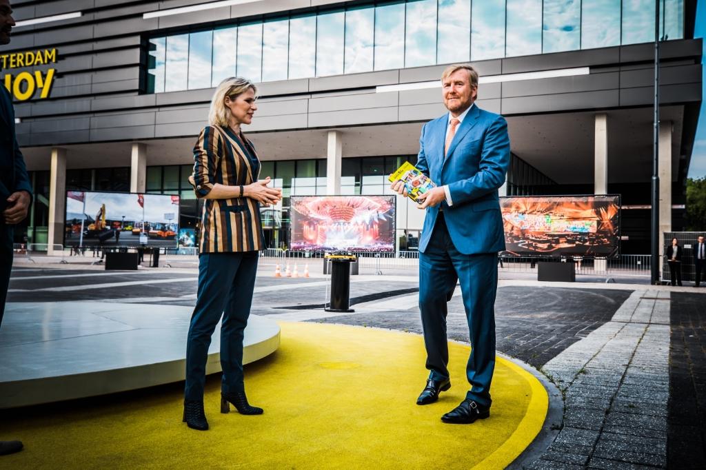 Jolanda Jansen en Koning Willem-Alexander vieren de verjaardag van Ahoy. Foto: Set Vexy  © rotterdam