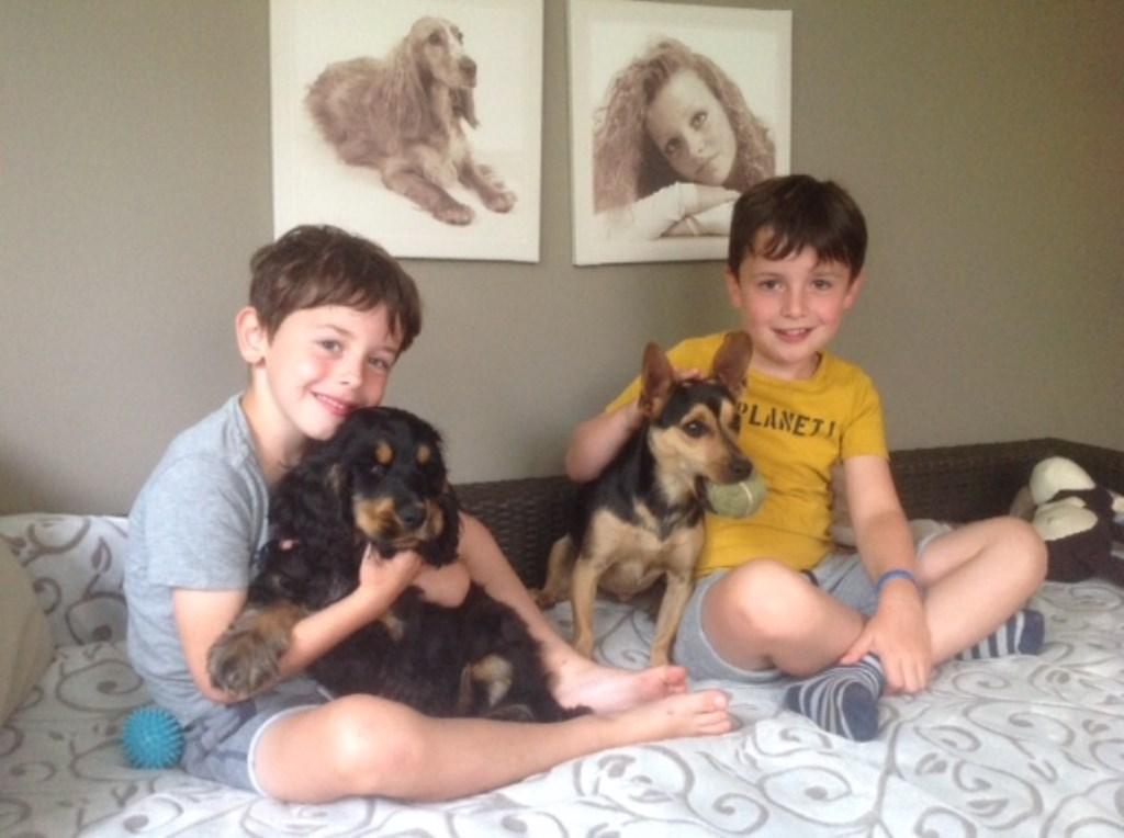'Roxy' en 'Jax' met hun vriendjes Liam en Jamy (Helma Faassen)  © deMooiLaarbeekkrant